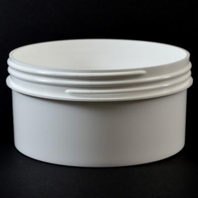 16 oz 120/400 Regular Wall Straight Base White PP Jar
