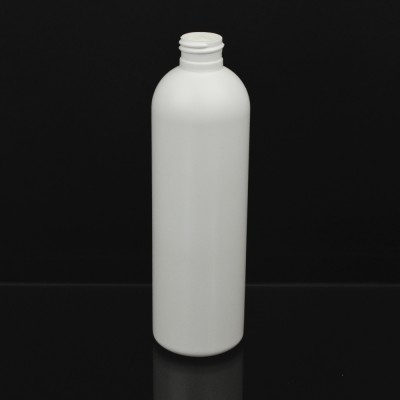 12 OZ 24/410 Royalty Round White HDPE Bottle - 327/case
