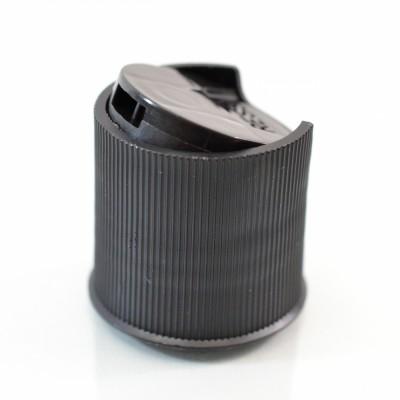 24/410 10-5410 Ribbed Black Presstop Dispensing Cap PP
