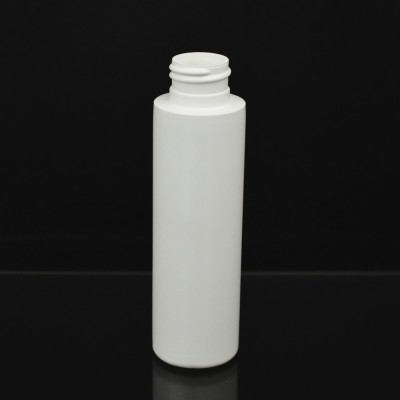 3 oz 24/410 Cylinder Round Whtie HDPE Bottle