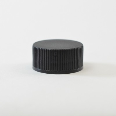 28/400 Black Ribbed Straight PP Cap / PS Liner