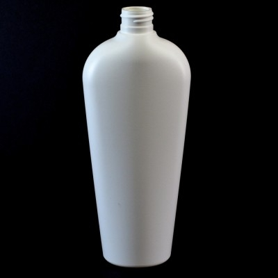 12 oz 20/410 Vail Oval White HDPE Bottle