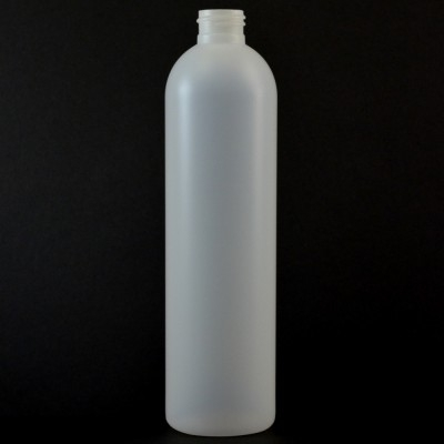 12 oz 24/410 Imperial Round Natural HDPE Bottle