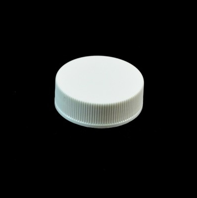 33/400 White Ribbed Straight PP Cap / Unlined
