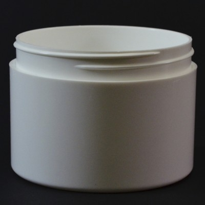8 oz 89/400 Double Wall Straight Base White PP Jar