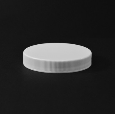 63/400 White Ribbed Straight PP Cap / PS Liner - 900/Case