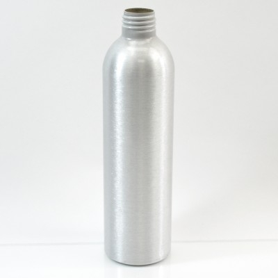8 oz Brushed Silver 24/410 Aluminum, 50x180 Bottle