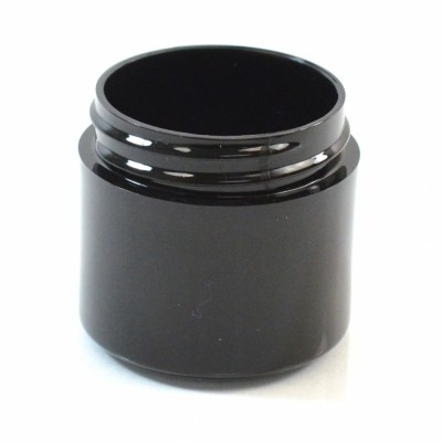 1 OZ 43/400 Thick Wall Straight Base Black PP Jar - 760/Case