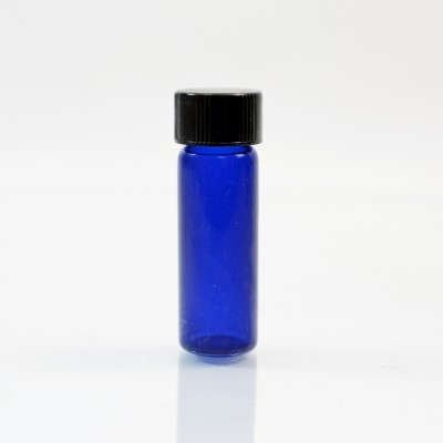 1 DRAM Screw Thread Cobalt Blue Glass Vial 13/425
