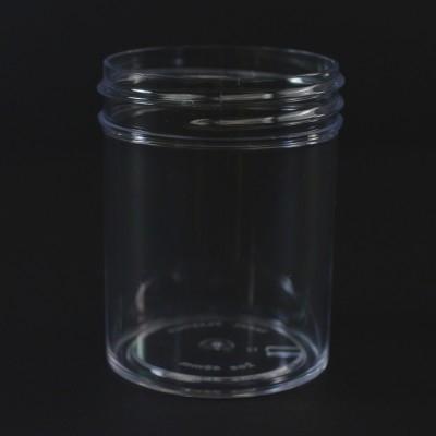 2 oz 48/400 Regular Wall Straight Base Clear PS Jar