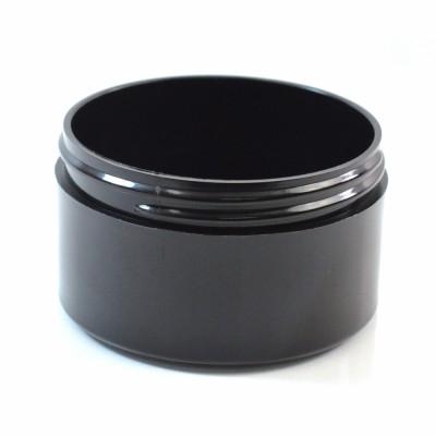 6 oz 89/400 Black Thick Wall Straight Base PP Jar