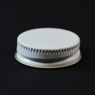 33/400 CT White Gold Metal Continuous Thread Caps