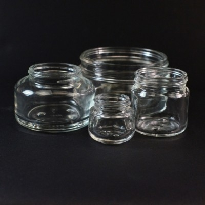 Round Base Glass Jars
