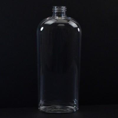 16 oz 24/410 Cosmoval Clear PET Bottle