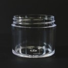 2 oz 53/400 Clear Thick Wall Straight Base PS Jar