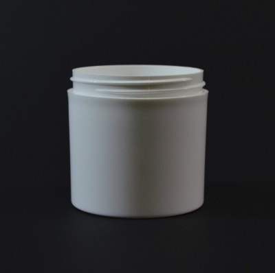 6 oz 70/400 White Thick Wall Straight Base PP Jar