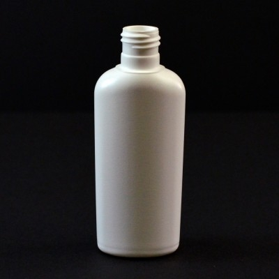 1 oz 15/415 Classic Oval White HDPE Bottle