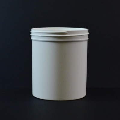 16 oz 89/400 Regular Wall Straight Base White PP Jar