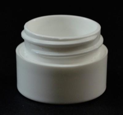 1/4 OZ 33/400 Double Wall Straight Base White PP Jar - 1800/Case