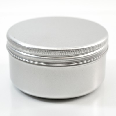 75 ML Aluminum Metal Straight Base Jar