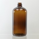 32 oz Boston Round 28/400 Amber Glass Bottle