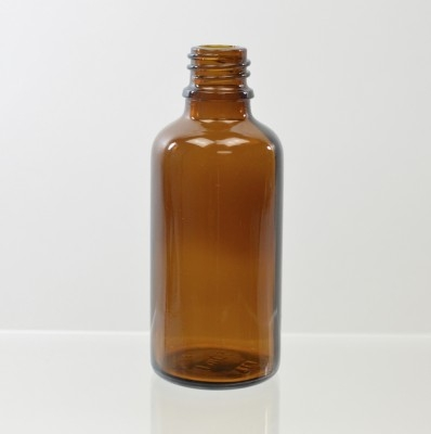 50 ml Euro Dropper 18-DIN Amber Glass Bottle
