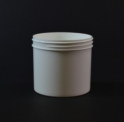 12 oz 89/400 Regular Wall Straight Base White PP Jar