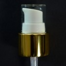 24/410 Treatment Pump Shiny Gold/White/Clear Hood