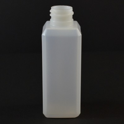 2 oz 20/410 Natural Beveled Square HDPE Bottle