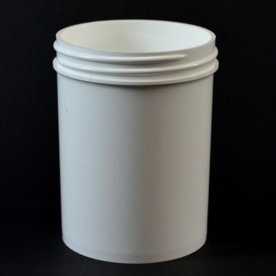 6 oz 63/400 Regular Wall Straight Base White PP Jar