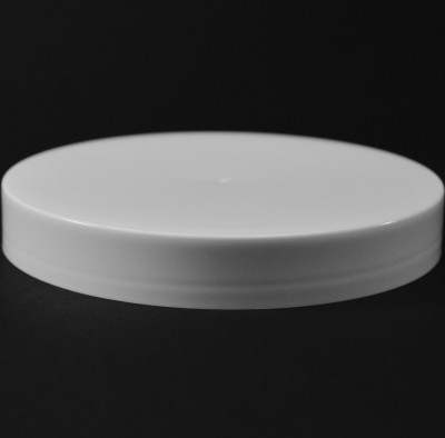 120/400 White Smooth Straight PP Cap / PS Liner - 240/Case