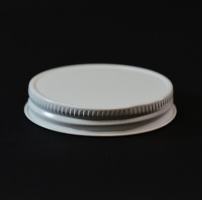 58/400 White-White Metal Cap