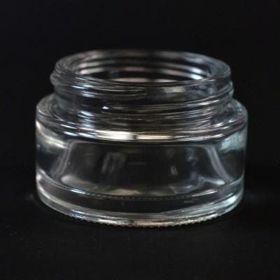 30 ML 48/400 Minerva Clear Glass Jar - 140/case