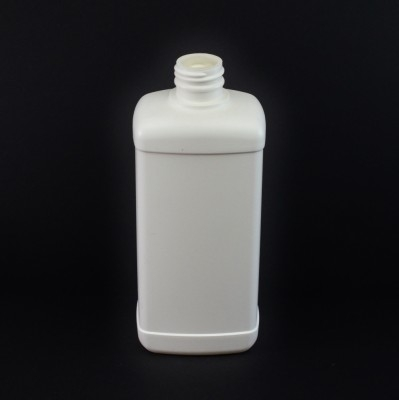 16 oz 28/410 White Blake Oblong HDPE Bottle