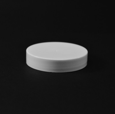 53/400 White Smooth Straight PP Cap / Unlined - 1300/Case