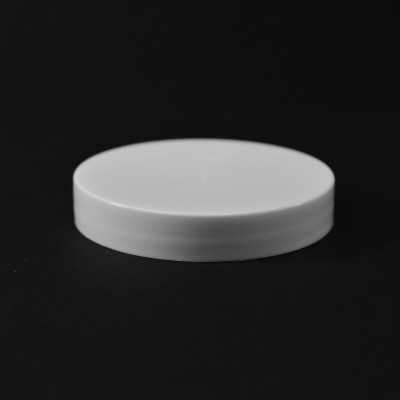 63/400 White Smooth Straight PP Cap / Unlined - 900/Case