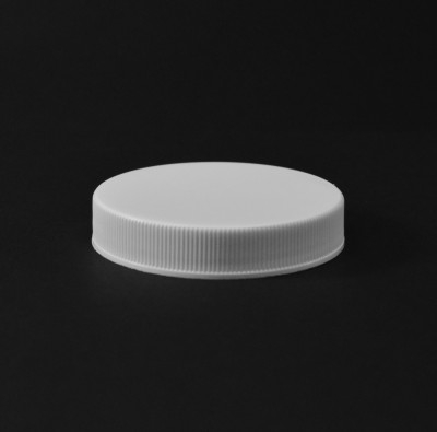 58/400 White Ribbed Straight PP Cap / PS Liner - 1100/Case