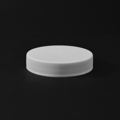53/400 White Ribbed Straight PP Cap / PS Liner - 1300/Case