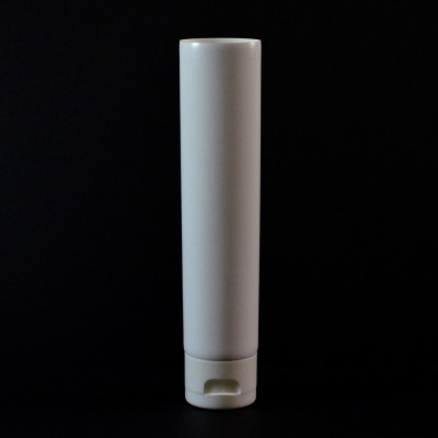 2 oz White MDPE Tube 1 3/8 X 3 3/4 with White Smooth Fliptop
