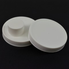 Ribbed White PP Caps
