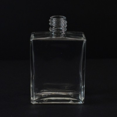 2 oz 18/415 Rectangular Clear Glass Bottle