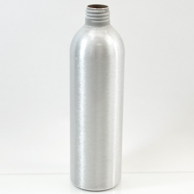 10 oz Brushe Silver 24/410 Aluminum, 53x180 Bottle