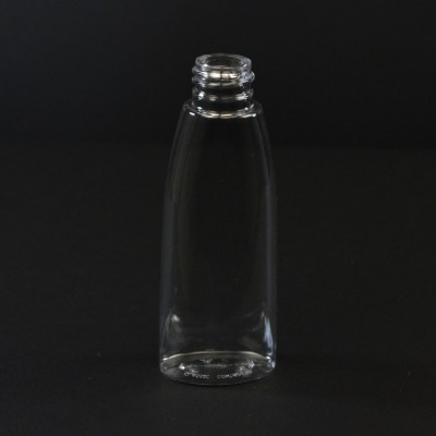 2 oz 20/410 Tear Oval Clear PET Bottle