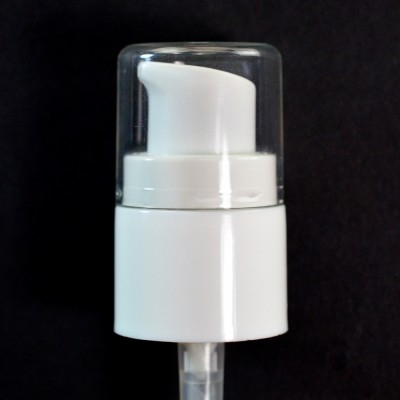 28/410 Treatment Pump White with Clear Hood
