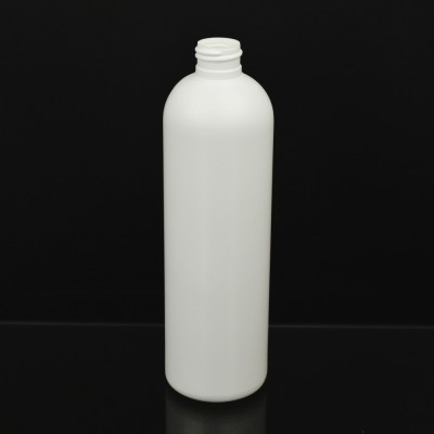 16 OZ 24/410 Royalty Round White HDPE Bottle - 240/case