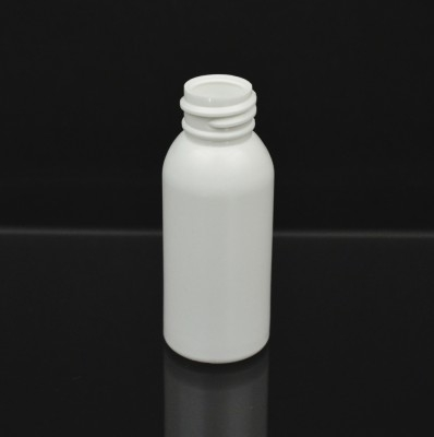 1 oz 20/410 Imperial Round White HDPE Bottle