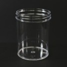 8 oz 70/400 Regular Wall Straight Base Clear PS Jar