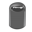 20/415 Black Phenolic Dome Cap F217