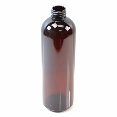 12 oz 24/410 Cosmo Round Amber PET Bottle