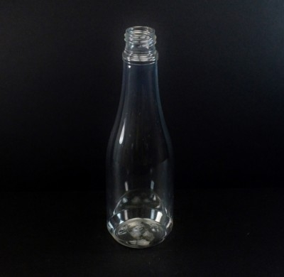 14.5 oz 24/410 Champagne Clear PET Bottle